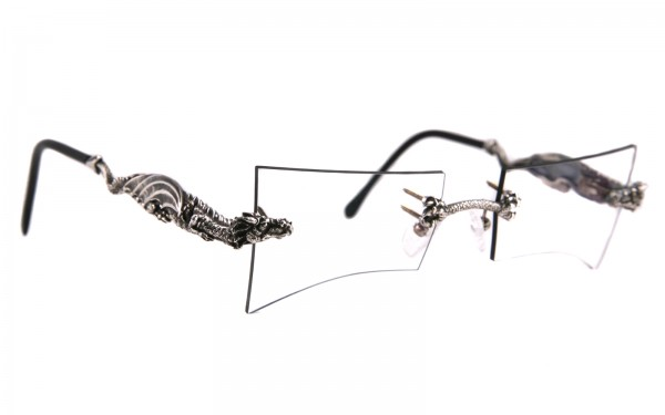 Drachenbrille aus Silber